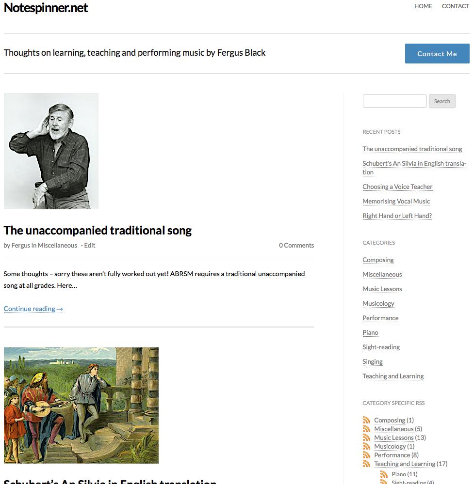 Notespinner blog